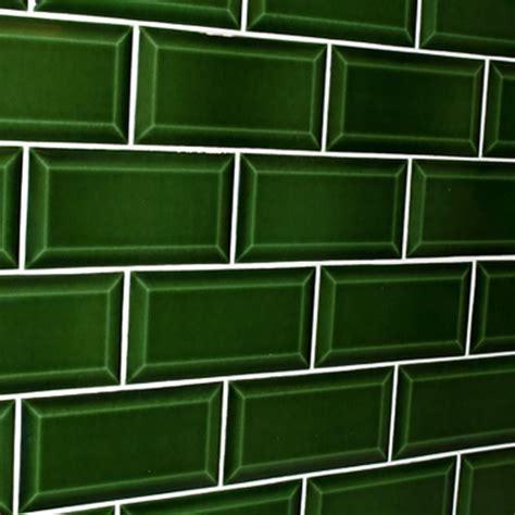 bathroom ceramic floor tile green bevelled subway tile design tiles