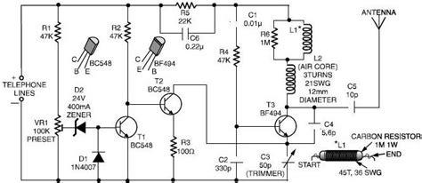 Phone Spy Transmitter Circuit Diagram Electronic