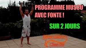 Programme Musculation Prise De Masse Avec Halt U00e8res Sur 2 Jours    Niveau Avanc U00e9
