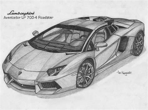 lamborghini sketch vonmalegowski april 2014