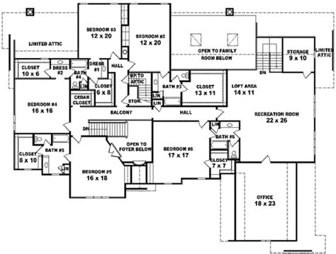 6 Bedroom House Floor Plans by European Style House Plan 6 Beds 4 Baths 7700 Sq Ft Plan