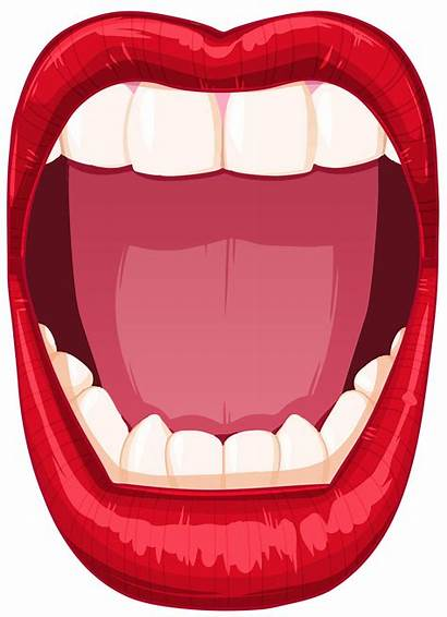 Mouth Open Clipart Cartoon Clip Transparent Lips
