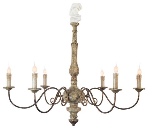 avignon country rustic gold iron scroll chandelier