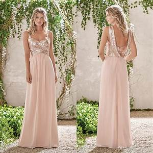 Sparkly Sequined Bridesmaid Dresses Cheap Long A Line