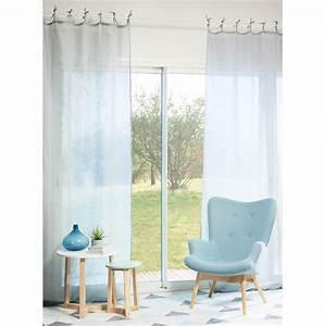 Rideaux Maison Du Monde Occasion : rideau en lin bleu nuage 105 x 300 cm maisons du monde ~ Dallasstarsshop.com Idées de Décoration
