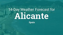 Alicante, Spain 14 day weather forecast