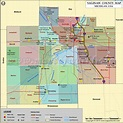 Saginaw County Map, Michigan