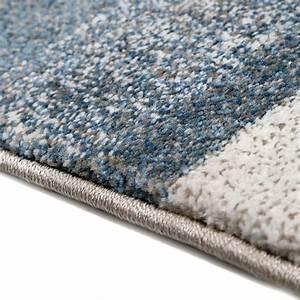 Tapis Bleu Et Gris : tapis moderne dreaming bleu et gris esprit 80x150 ~ Dode.kayakingforconservation.com Idées de Décoration