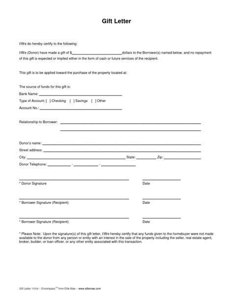 gift letter form mortgage deposit gift letter exle gift letter sle 6882