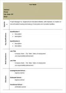 Free Sle Blank Resume by Sle Blank Resume Format 28 Images Blank Resumes 40 Blank Resume Templates Free Sles Exles