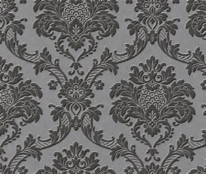 Graue Tapete Mit Muster : hintergrund barock ines kocht ~ Orissabook.com Haus und Dekorationen