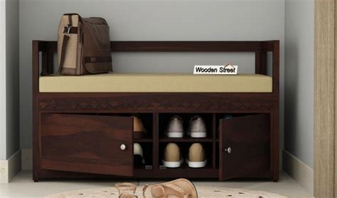 buy berwick designer shoe rack walnut finish