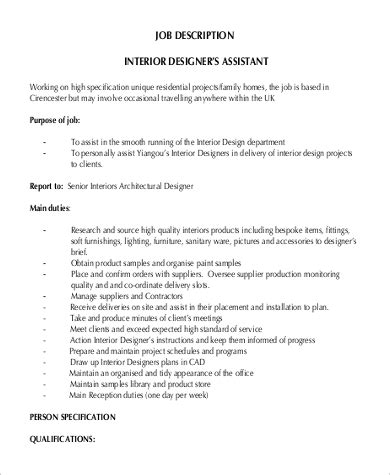 interior design description 9 interior designer description sles sle