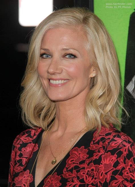 joely richardson shoulder length hair curled  soft