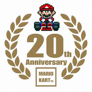 Mario Kart 20th Anniversary Logo by TuxedoMoroboshi on ...