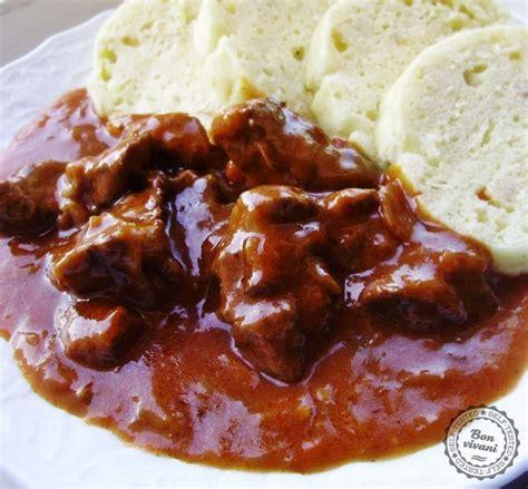 slovak hungarian goulash  dumplings knedliky