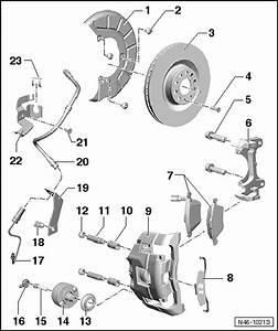 Volkswagen Workshop Manuals  U0026gt  Golf Mk6  U0026gt  Brake Systems