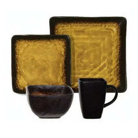 gibson suniva  pc dinnerware set square service