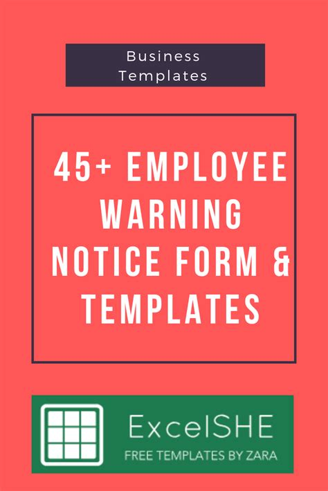 employee warning notice form templates  images