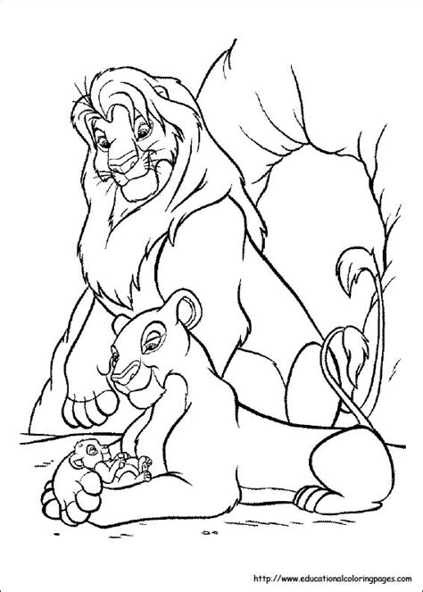 lion king coloring educational fun kids coloring pages  preschool skills worksheets