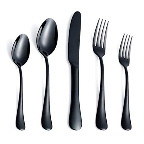 stainless flatware heavy steel silverware piece forks utensils spoons cutlery knives eating mirror weight service