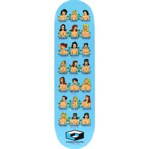 consolidated skateboards boobs skateboard deck 8 3 x 32