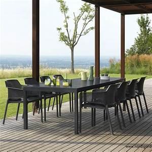 Table Jardin Design : table de jardin extensible design rio nardi zendart design ~ Melissatoandfro.com Idées de Décoration