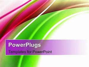 Powerpoint template abstract shiny green and magenta for Power plugs powerpoint templates