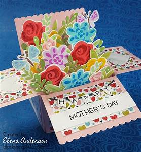 Mother's Day Floral Bouquet Scalloped Box Card Pop-Up