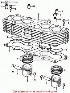 Honda Cb350f Four 1972 Usa Cylinder    Piston