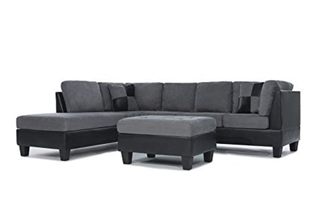 3 discount gray microfiber sectional sofa set with 3 sofa set 3 modern microfiber faux leather