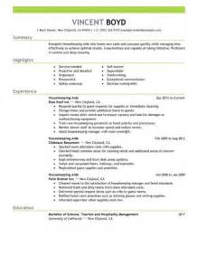 Housekeeping Resume Objective by Housekeeping Resume Template Design