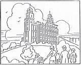 Coloring Temple Lds Paul Jesus Missionary Museum Lake Manti Salt Journey Boy Building Journeys Mormon Barnabas Printable Night 1923 August sketch template