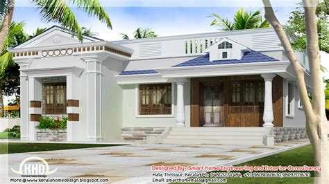 Home Design 1 Floor : One Story Bungalow Floor Plans Kerala Style Single Storey