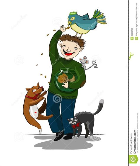 cartoon man  animals royalty  stock images image