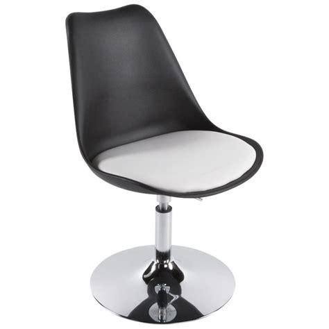 chaise noir et blanc design chaise design aisne rotative et réglable noir et blanc