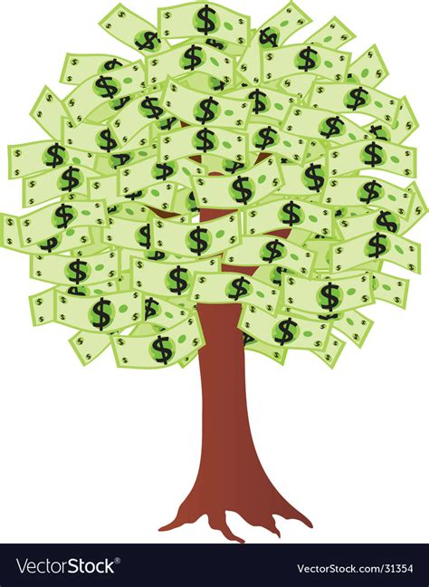 Images Of Money Tree Money Tree With Dollars Royalty Free Vector Image
