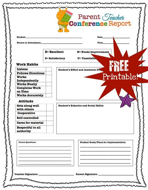 parent conference feedback form for parents 498 | d40896a071540379290da06f291af08c
