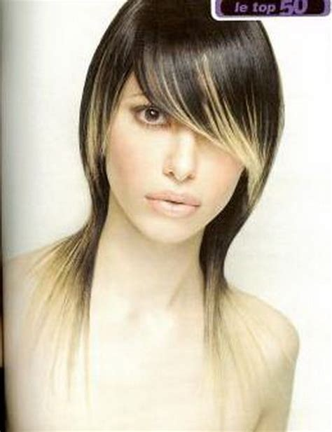 Coiffure moderne cheveux long