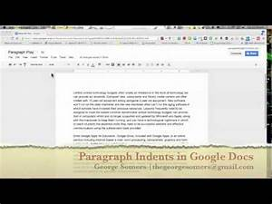 paragraph indents google docs youtube With google docs add indent