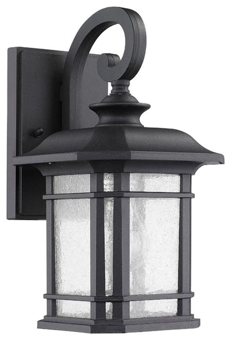 franklin transitional 1 light black outdoor wall sconce