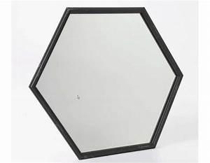 Miroir Metal Noir : miroir m tal noir hexagonal pas cher amadeus ~ Teatrodelosmanantiales.com Idées de Décoration