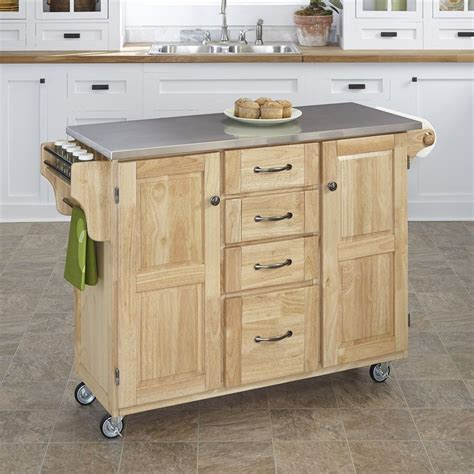 kitchen island shop shop home styles 52 5 in l x 18 in w x 35 75 in h