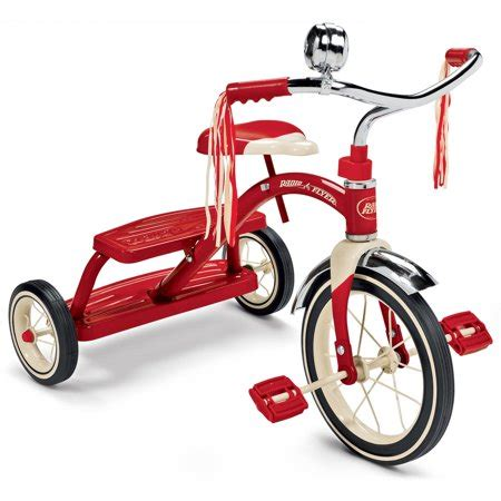 radio flyer classic red dual deck tricycle  front