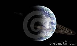 Earth Like Planet With Rings Stock Images - Image: 1515444