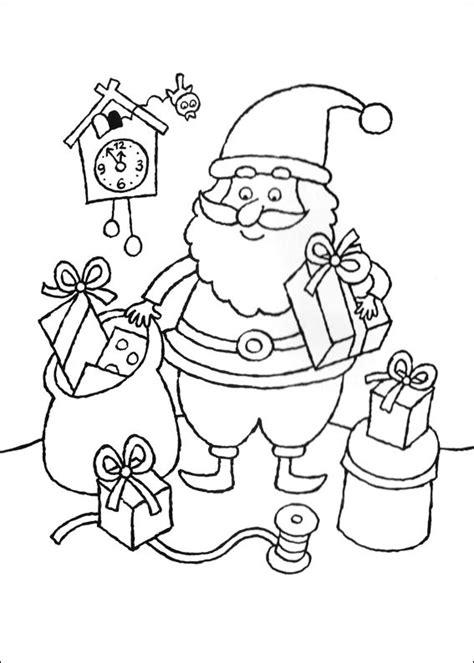 colorir desenhos de presentes  papai noel desenhos