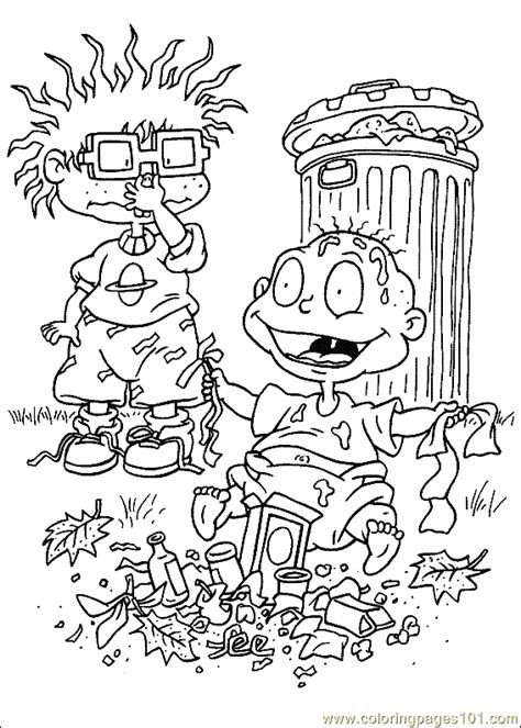 printable rugrats coloring pages