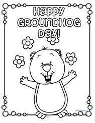 groundhog day crafts print  groundhog template