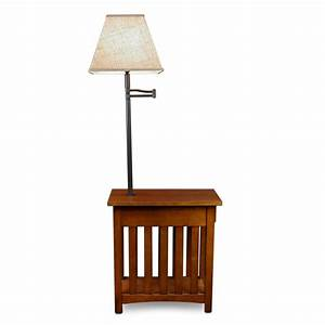 Amazon com: Leick Mission Chairside Swing Arm Lamp Table