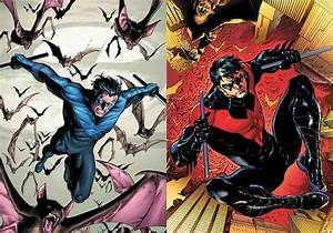 batman - Why did Nightwing's costume change from black and ...